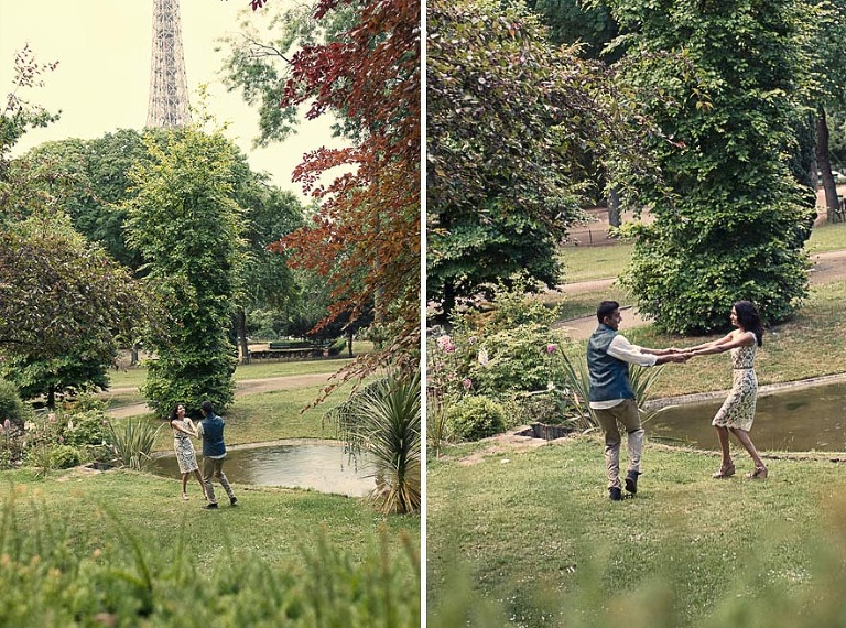 engagement photographer Paris honeymoon