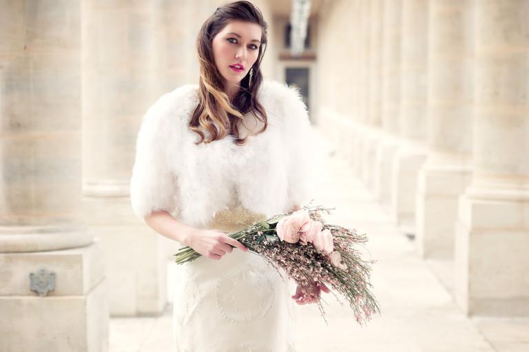 Bridal photo shoot une fleur en liberté Paris