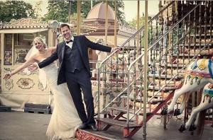 Wedding couple married in Paris