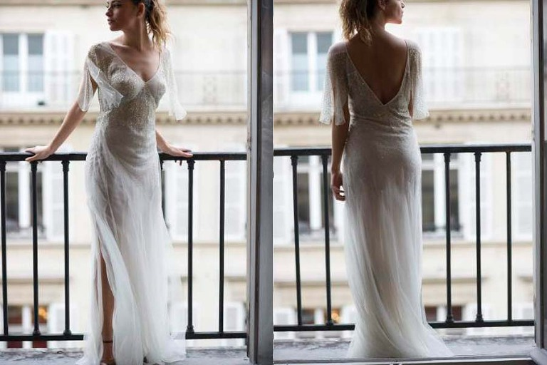 Paris rent a couture wedding gown