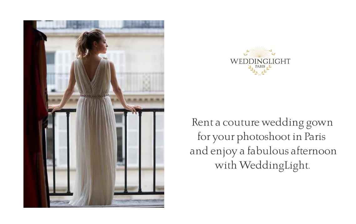 A wedding gown for your styleshoot