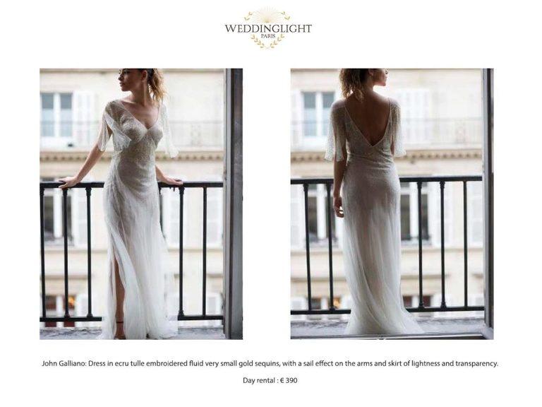 John Galliano Paris rent a wedding dress